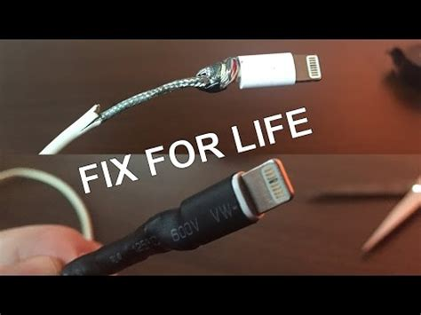 how to fix a broken iphone charger fixing for the broken iphone charging cable