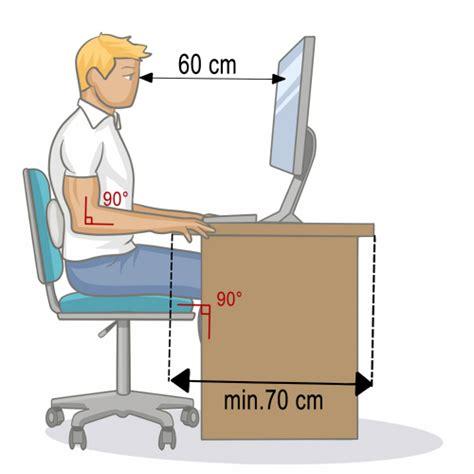 plan bureau de travail adopter une bonne position assise au bureau mal de dos