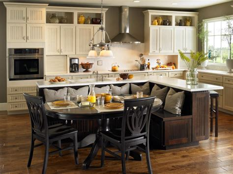 kitchen island with built in table kitchen island table ideas and options hgtv pictures hgtv