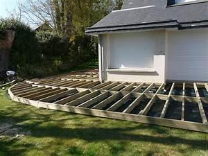 Faire Une Terrasse En Dalle : faire une terrasse en bois composite comment dalle de 7 ~ Voncanada.com Idées de Décoration