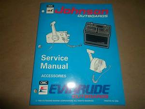 1994 Johnson Evinrude Outboards Service Manual Accessories Remote Control Oem