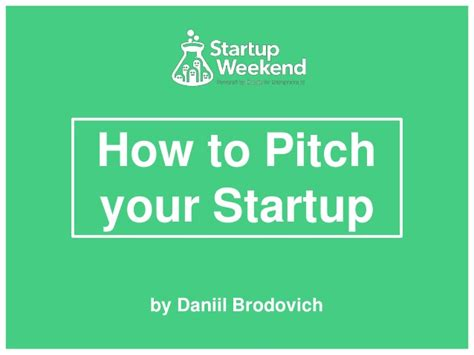 how to pitch your startup make the best investor pitch