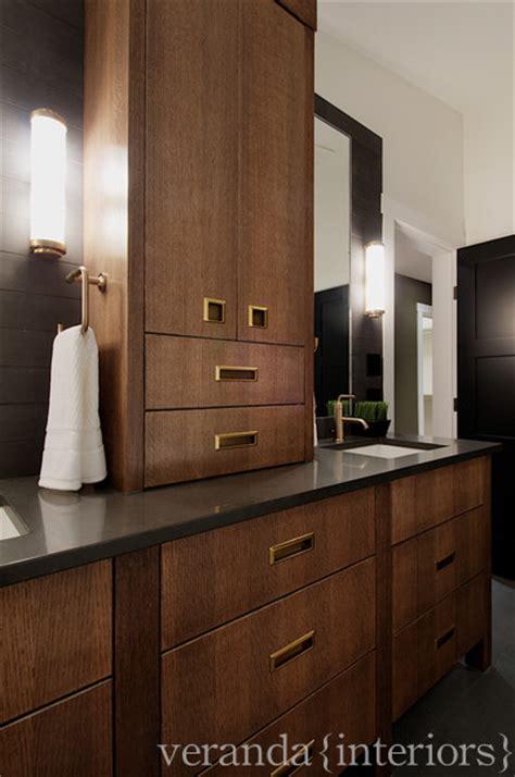 dark maple cabinets contemporary bathroom veranda