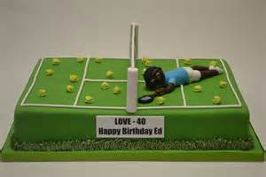 tennis cake toppers large tennis court cake with model celebration cakes