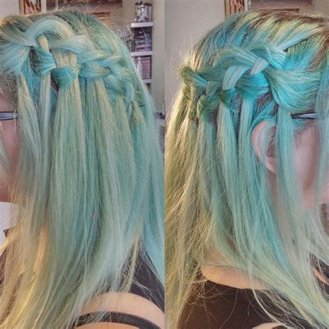 pastel bluemint hair color hair colors ideas