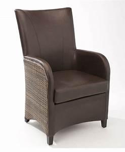 Fauteuil Salle A Manger : fauteuil de salle manger en cuir synth tique brin d 39 ouest ~ Teatrodelosmanantiales.com Idées de Décoration