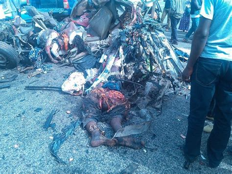 Accident Invoving A Truck And Peugeot504 In Plateau State