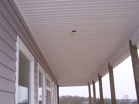Outdoor Beadboard Ceiling Panels : Vinyl Beadboard Soffit Porch Ceilings