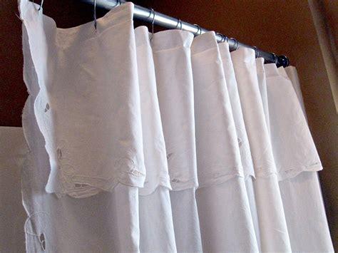 pretty white cotton cutwork lace shower curtain shower