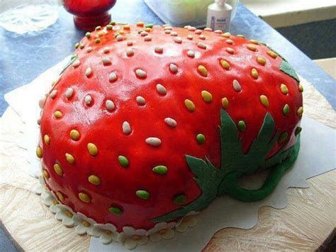 cakes decorated with strawberries strawberry shaped cake birthday