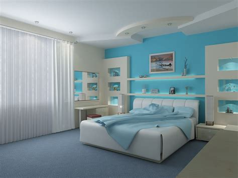 luxurious blue bedrooms  great character