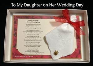 angel design by denise With letter to daughter on wedding day