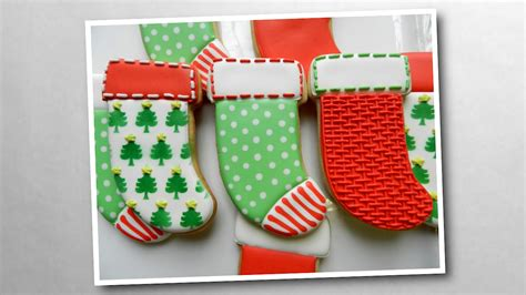 decorate christmas stocking cookies youtube