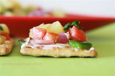 how to canapes pineapple salsa canapes whats cooking