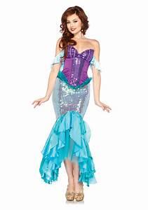 Deguisement De Sirene : women 39 s disney deluxe ariel costume ~ Preciouscoupons.com Idées de Décoration