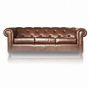 Canape chesterfield en cuir mister canape for Canapé chesterfield