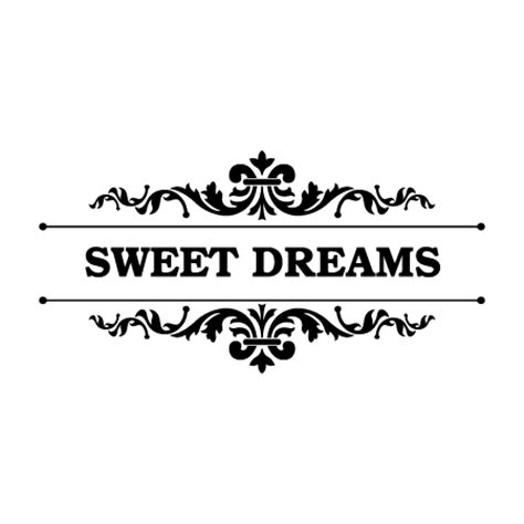 sweet dreams elegant frame wall quotes decal wallquotescom