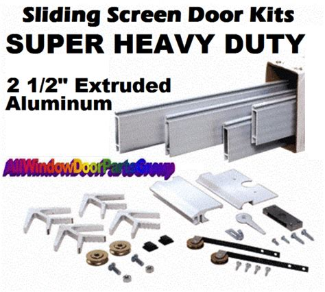 sliding screen door replacements extruded aluminum frames  size  options kd kits truth