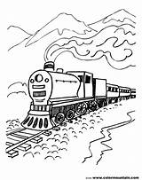 Steam Train Coloring Polar Express Locomotive Engine Drawing Printable Trains Mountain Line Csx Scenery Mountains Getdrawings Cars Diesel Getcolorings sketch template
