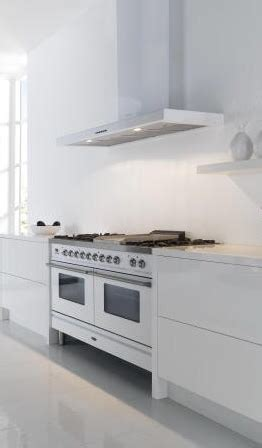 ilve range cooker  stainless steel  slab style