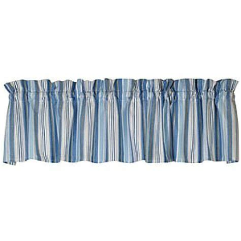 Blue Gray Valance by New Cottage Chic House Cape Cod Blue Grey Striped