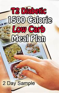 Food Chart For Type 1 Diabetes Type 2 Diabetic 1500 Calorie Meal Plan 2 Day Sample