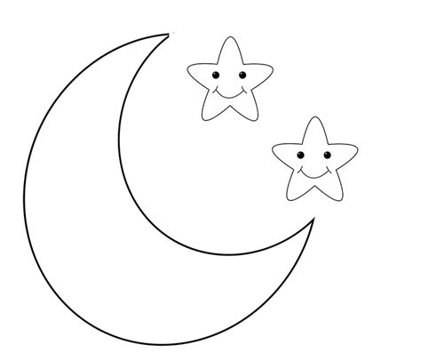 best moon coloring pages to print adults kindergarten 498 | Moon Coloring Pages for Toddlers