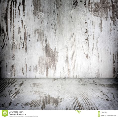 wooden vintage damaged white boards room stock image