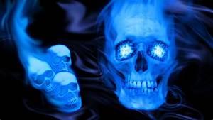 Blue Skull Wallpaper by Nox-enamor on DeviantArt