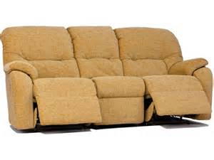 g plan mistral soft cover 3 seater double recliner sofa