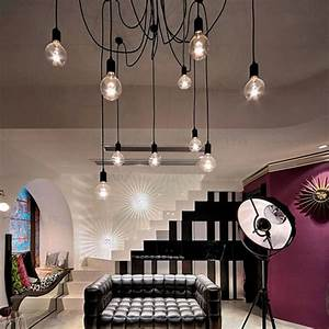 Bright, Ajustable, Diy, Ceiling, Lamp, Pendant, Light, Hanging, Lamp, With, 10, Heads, Bulb, Not, Included, For