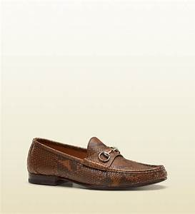 9cd65ae7c9c Gucci Mocassin. lyst gucci moccasin with bamboo horsebit in brown ...