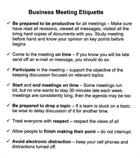business meeting agenda template