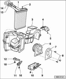 Volkswagen Workshop Manuals  U0026gt  Golf Mk4  U0026gt  Heating  Ventilation  Air Conditioning  U0026gt  Heating  Air