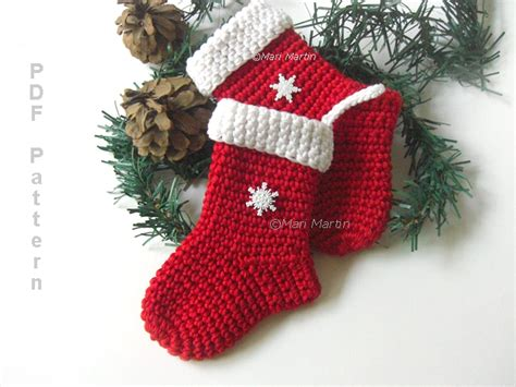 christmas stocking ornaments crochet ornament pattern crochet colorful