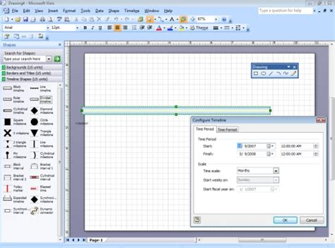 Visio Project Timeline Template by Visio Timeline Template Informit