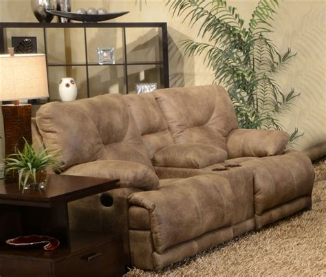 Loveseat Recliners With Console by Voyager Lay Flat Reclining Console Loveseat By Catnapper