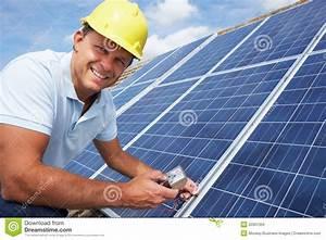Man Installing Solar Panels Royalty Free Stock Image ...