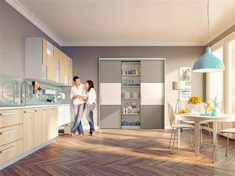 porte de cuisine coulissante portes de placard coulissantes de cuisine sur mesure
