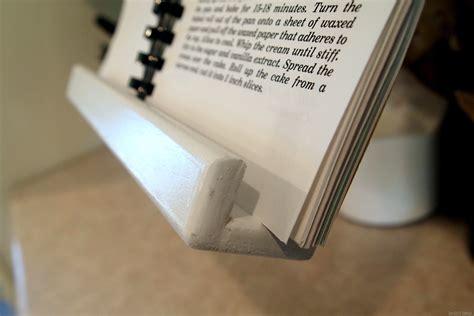 diy tablet  recipe book holder   cabinets