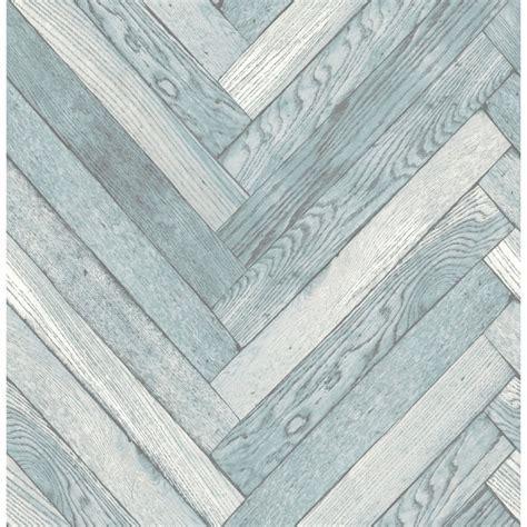 Fine Decor Distinctive Parquet Wood Wallpaper Blue
