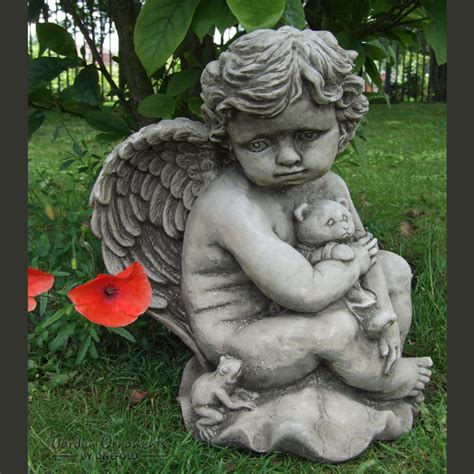 cherub garden statues teddy cherub cast garden ornament statue grave
