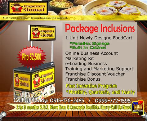 franchise cuisine tfd top franchise business philippines food cart
