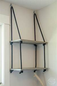 best 25 rope shelves ideas on pinterest diy furniture With the advantages and ideas of hanging wall shelves