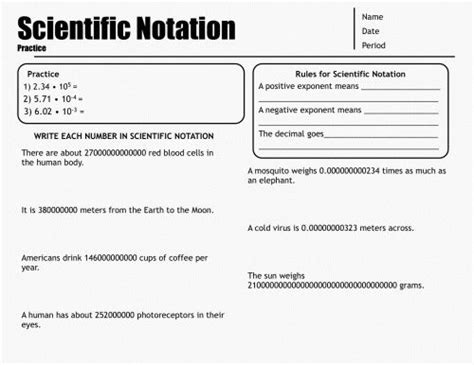 25 best exponents scientific notation images on
