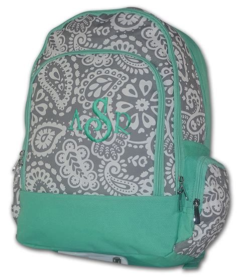 paisley backpack personalized  purse