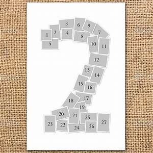 single number photo collage poster printable alexandria With photo collage number templates