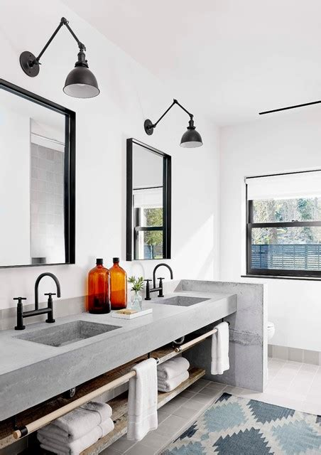 Houzz Living Rooms Traditional by Modern Texas Prefab Industrial Bathroom Austin By