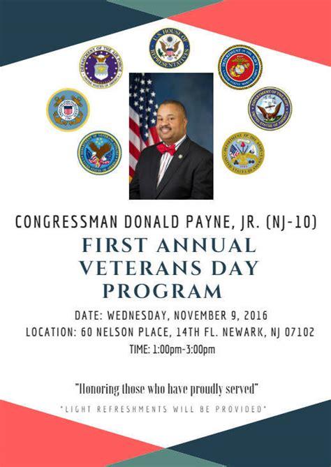 veterans day program donald payne host annual veterans day program tapinto