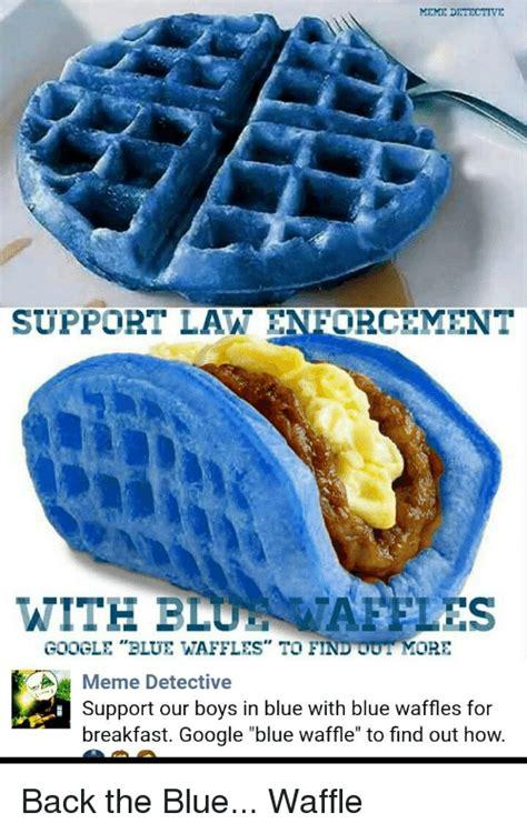 blue colored waffle blue waffle